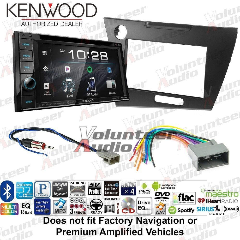 Kenwood DDX396 Double Din CD Player Car Radio Install Mount Kit