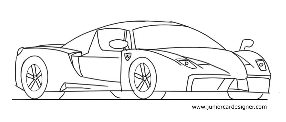 how to draw a kids car