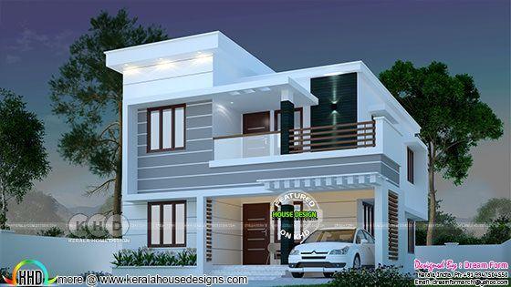 Sq ft bedroom modern kerala house duplex design small also new homes in los lunas plans rh pinterest