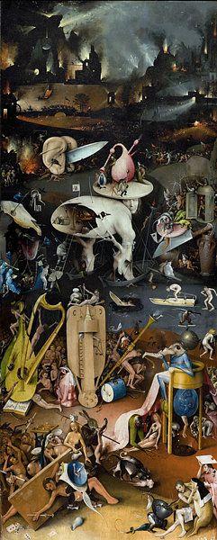 Kunstwerk Jeroen Bosch Tuin Der Lusten De Hel 1490