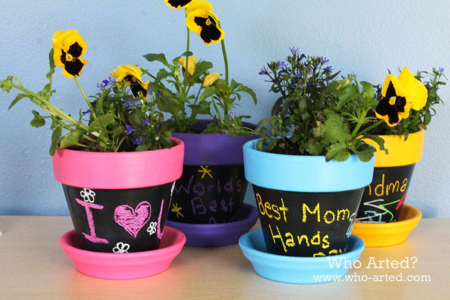 Mother S Day Craft For Kids Decorative Flower Pot Decorated Flower Pots Diy Flower Pots Chalkboard Flowers