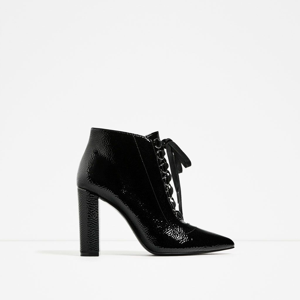 ZARA - WOMAN - LACE-UP HIGH HEEL ANKLE BOOTS | chaussures ...