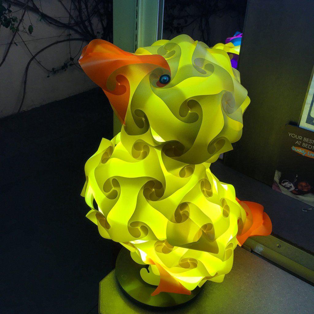 Cartoon Duck Frank Shape Puzzle Lamp Shade 3d Puzzle Iq Lights Shape Puzzles Puzzle Lights Shapes
