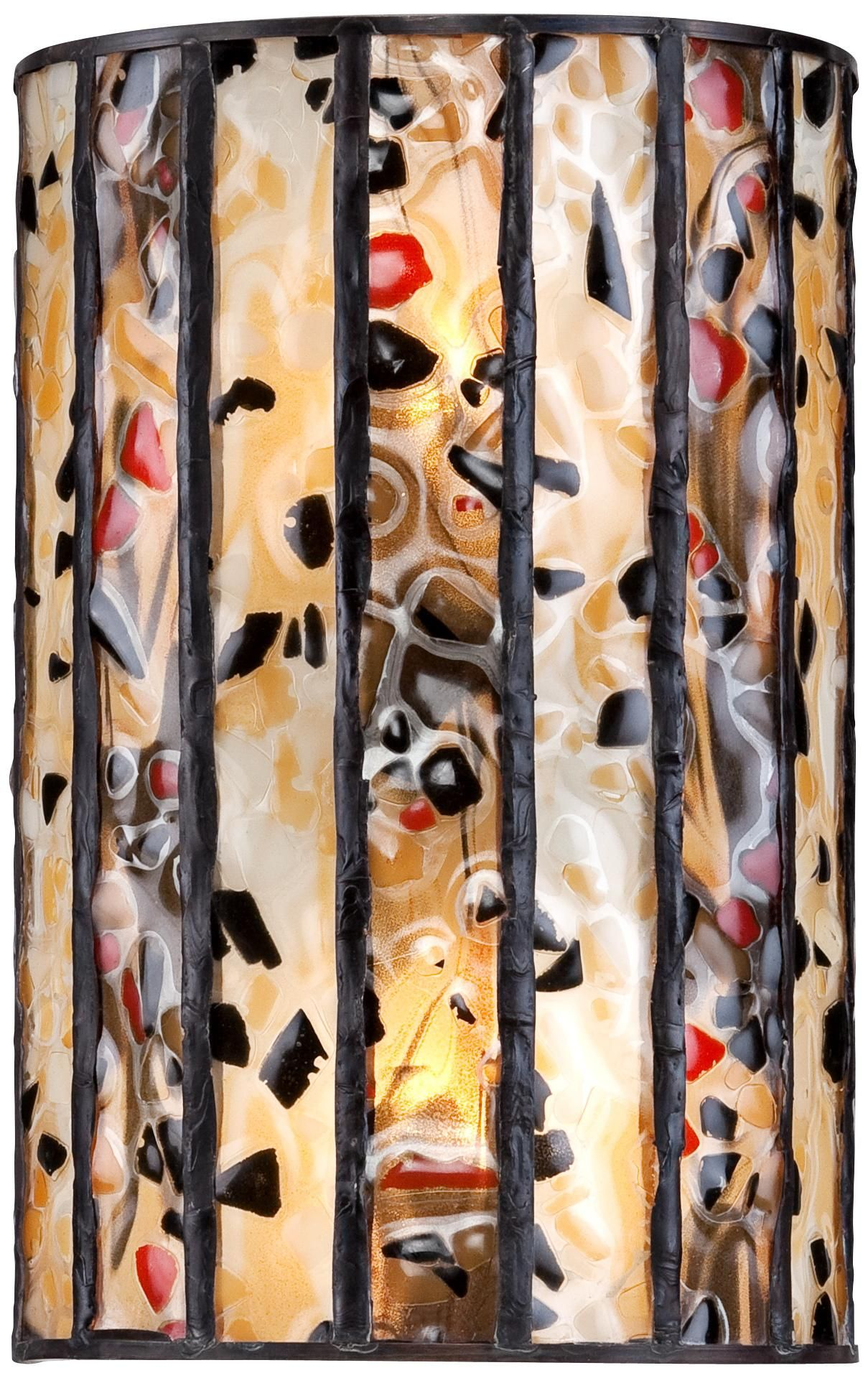 Earth tone art glass 6 12 wide tiffany style wall sconce earth tone art glass 6 12 wide tiffany style wall sconce amipublicfo Gallery