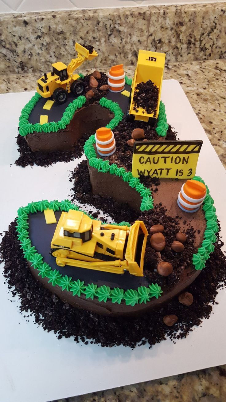 Construction Birthday Cakes Number 3 Construction Birthday Cake Four Oaks Bakery – Kuchen Rezept