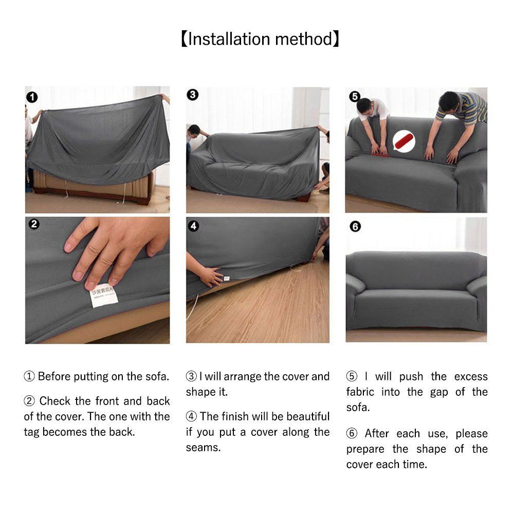 Suede Sofa Coversstretch Sofa Slipcoversfurniture Protectorsolid Color Thicken Couch Cover Throw For 1234 Cushion Co Slip Covers Couch Sofa Covers Couch Covers