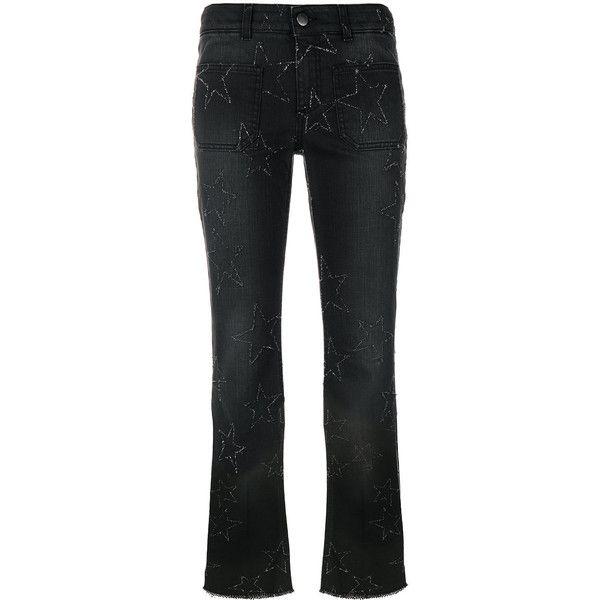 Étoile Jeans Flare Culture Cousu - Stella Mccartney Noir Original Prix Pas Cher Magasin Avec Grand Escompte fzmAgbHT