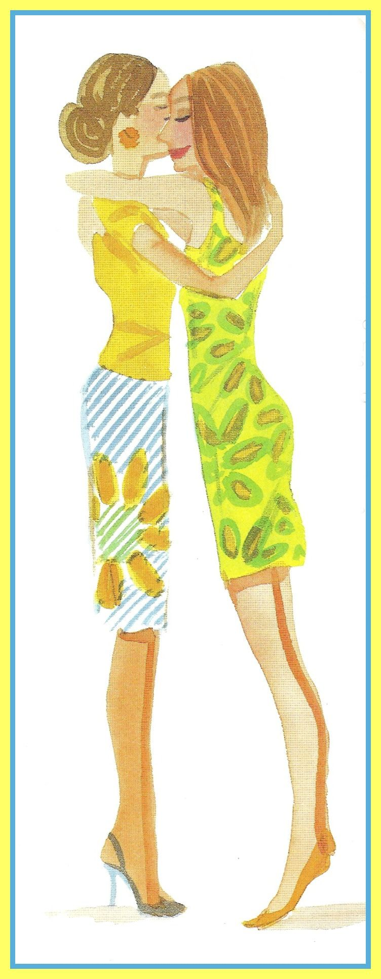 Lilly Pulitzer mom and daughter illustration by Izak Zenou.