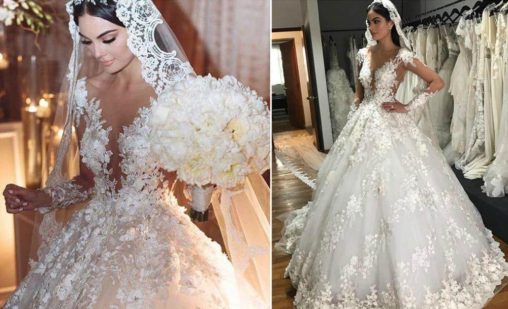 Ximena Navarrete Glamorous 3d Floral Patterned Plunging V