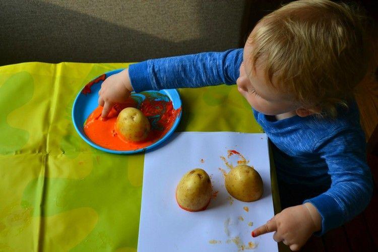 Basteln mit 2-jährigen Kindern - 20 Ideen mit ...