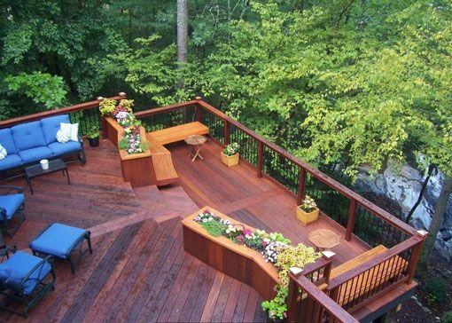 Un deck para la terraza de mi casa Garden Pinterest Porch - terrazas en madera