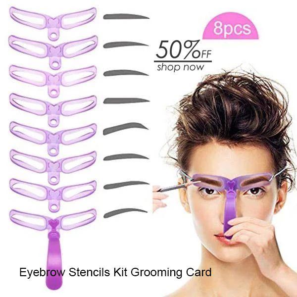 Eyebrow Stencils Kit Grooming Card Eyebrow Makeup Tools #naturaleyebrows