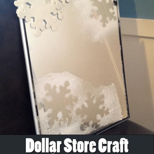 Dollar Store Craft: Simple Snowflake Mirror