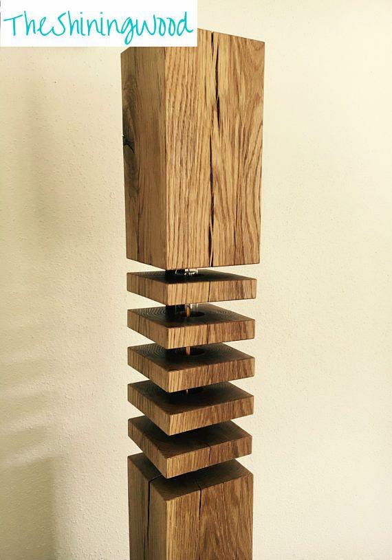 Moderne Massivholz Stehlampe Design No2 F Lb150 Mit Led Filament Light Es Werden Zwei Varianten Angebot Wood Floor Lamp Design Oak Floor Lamp Wood Floor Lamp