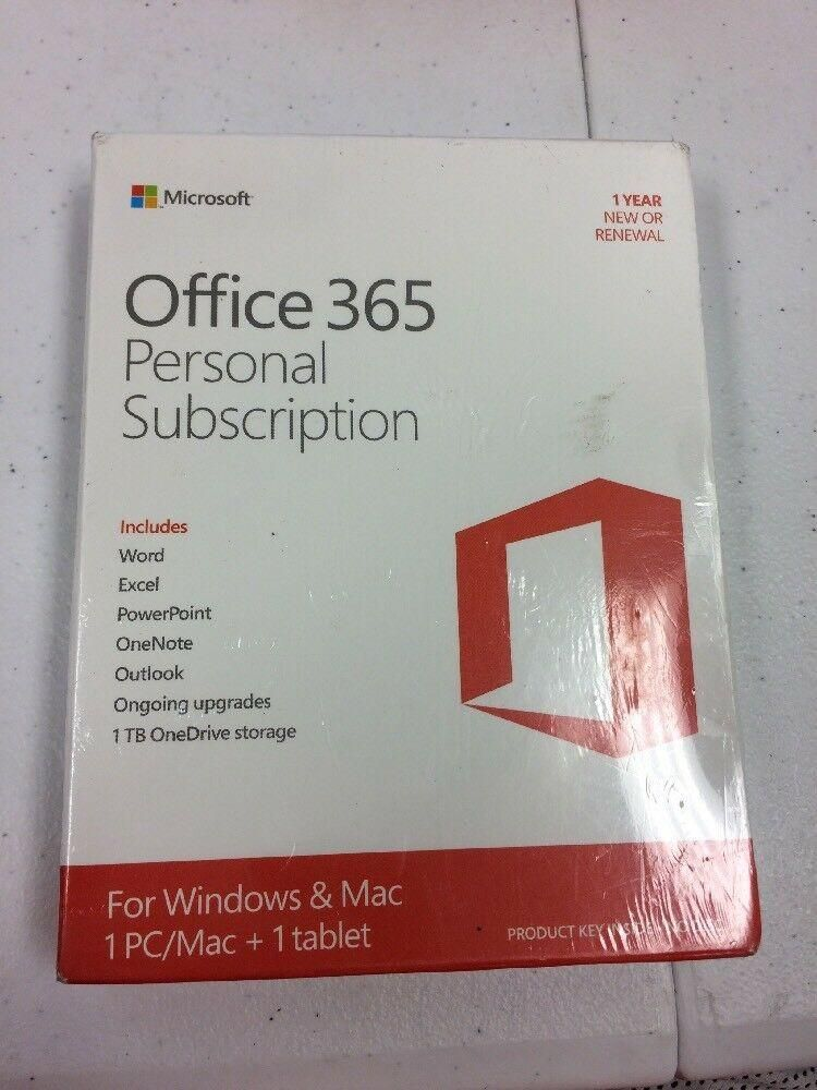 microsoft office 365 personal product key card