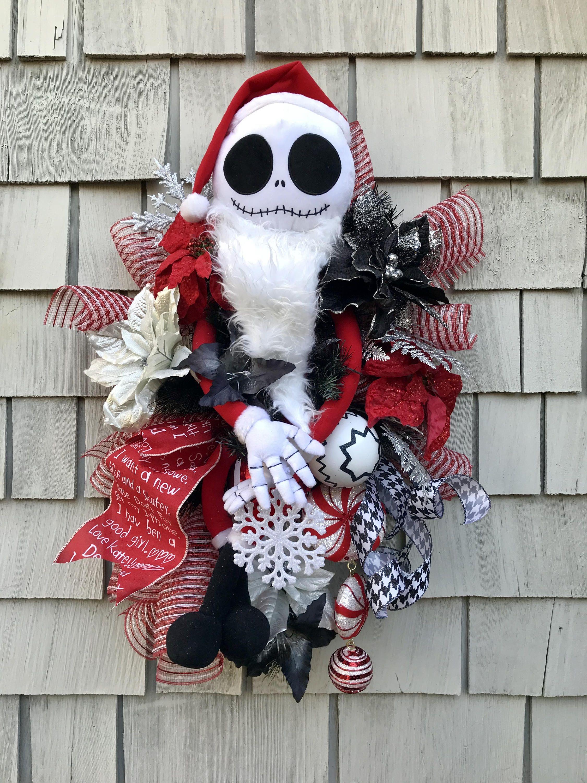 The Nightmare Before Christmas Wreath, Amazing XXL Jack Skellington ...