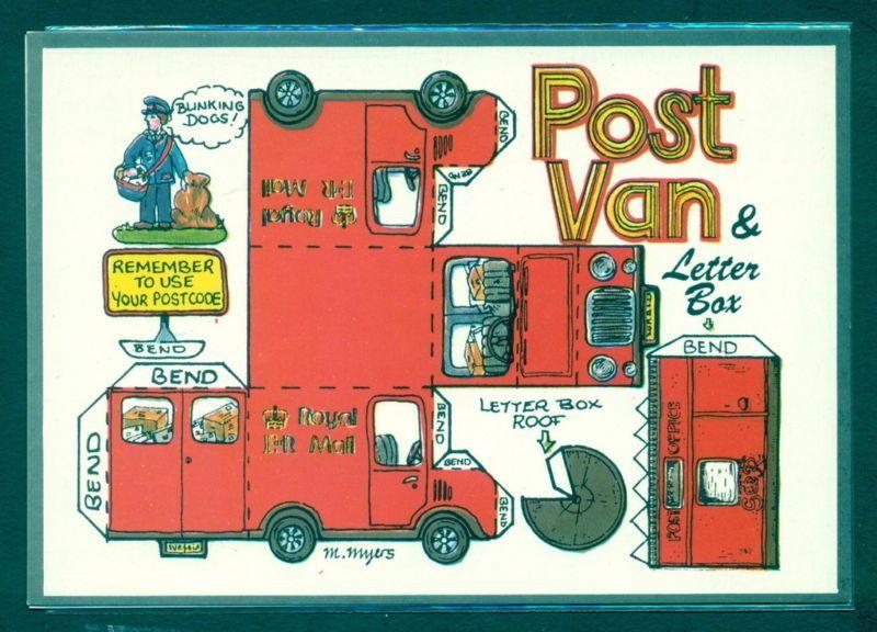X1106 Fiddler's Green 4x6 Cut Out Postcard - Post Van