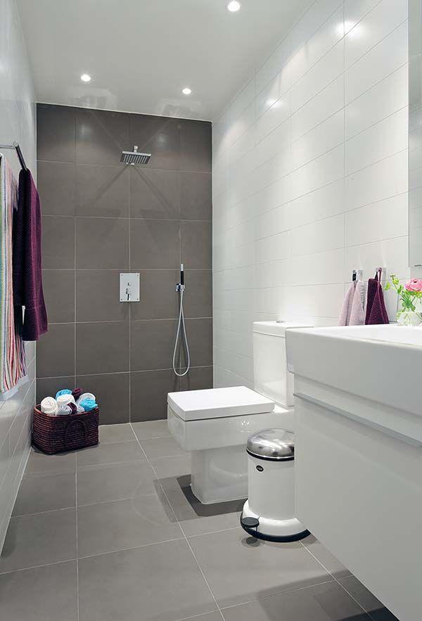 Azulejos Para Baños Todo Lo Que Necesitas Saber Small Bathroom - Modern bathroom design grey and white