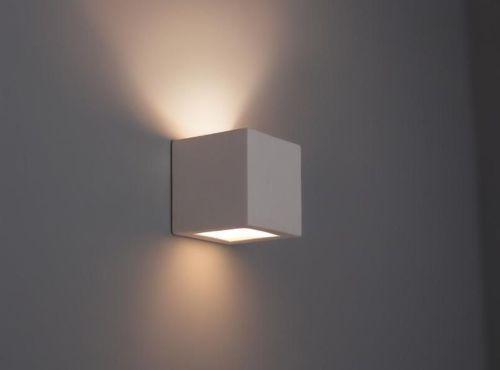 Details Zu Wandleuchte KUBIK Keramik Wandlampe Lampe Leuchte Gipslampe