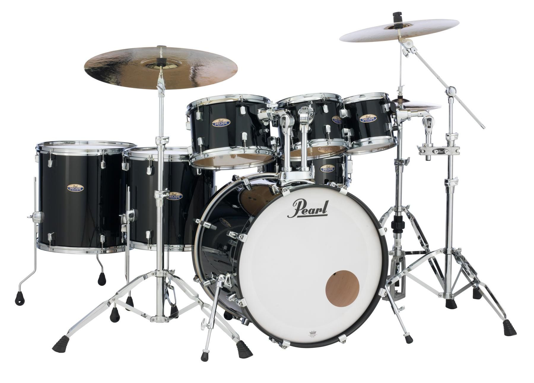Pearl Decade Maple 7 Piece Shell Pack 22 Kick White Satin