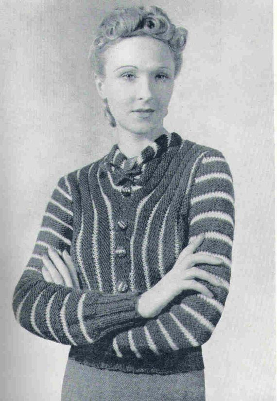 1930\'s Sweater Vintage Knitting Pattern PDF TWO by PamoolahVintage ...