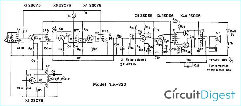 Superheterodyne Am Receiver Circuit Diagram In 2020