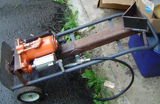Homemade Manual Log Splitter Homemade Hydraulic Wood