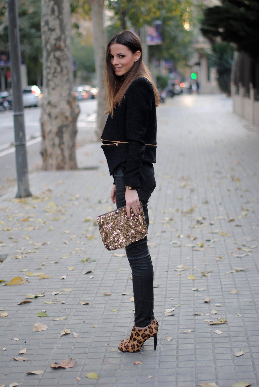 ladies leopard print ankle boots