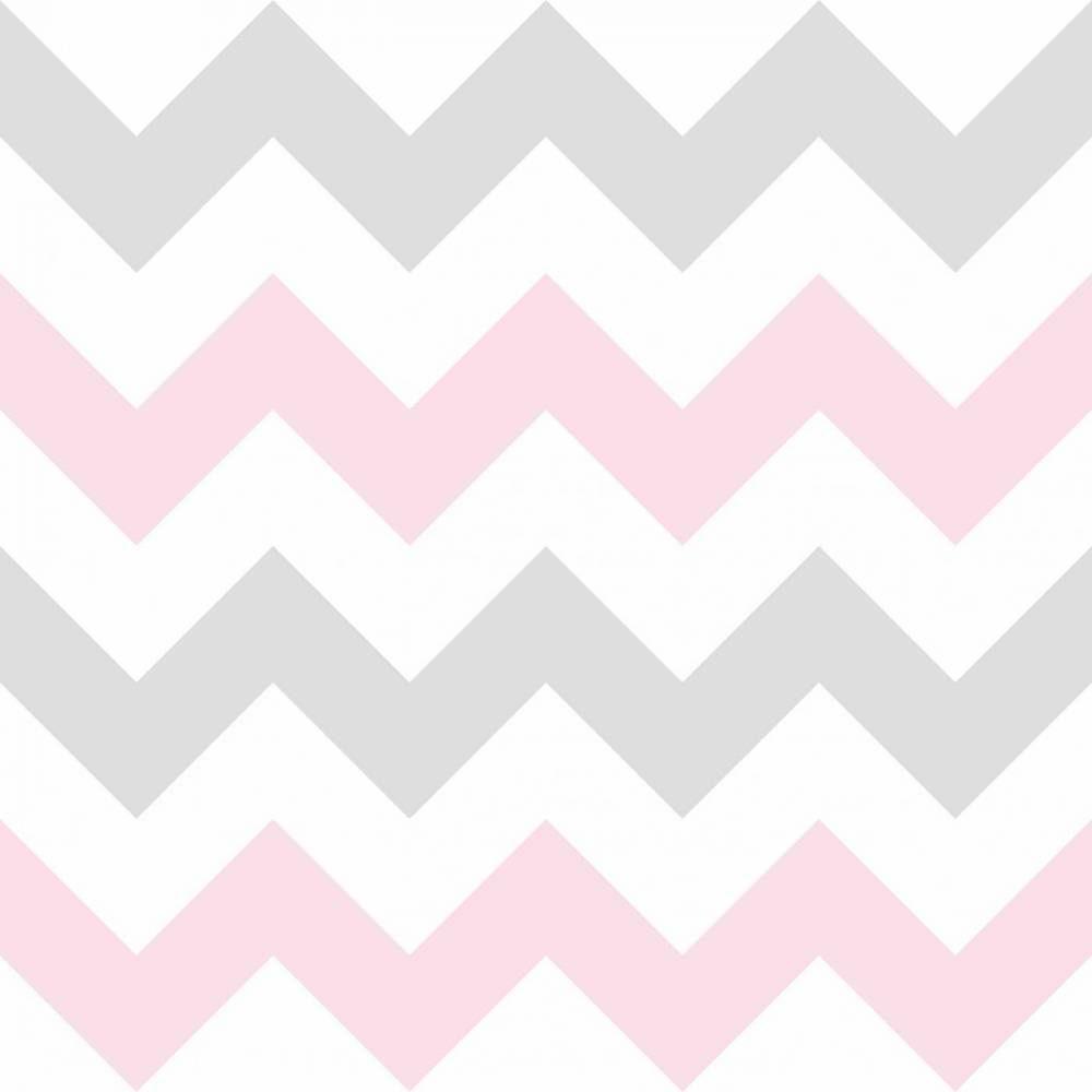 75b606373 Papel de parede Chevron rosa