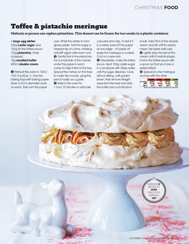 Asda magazine december 2012 food christmas food good food