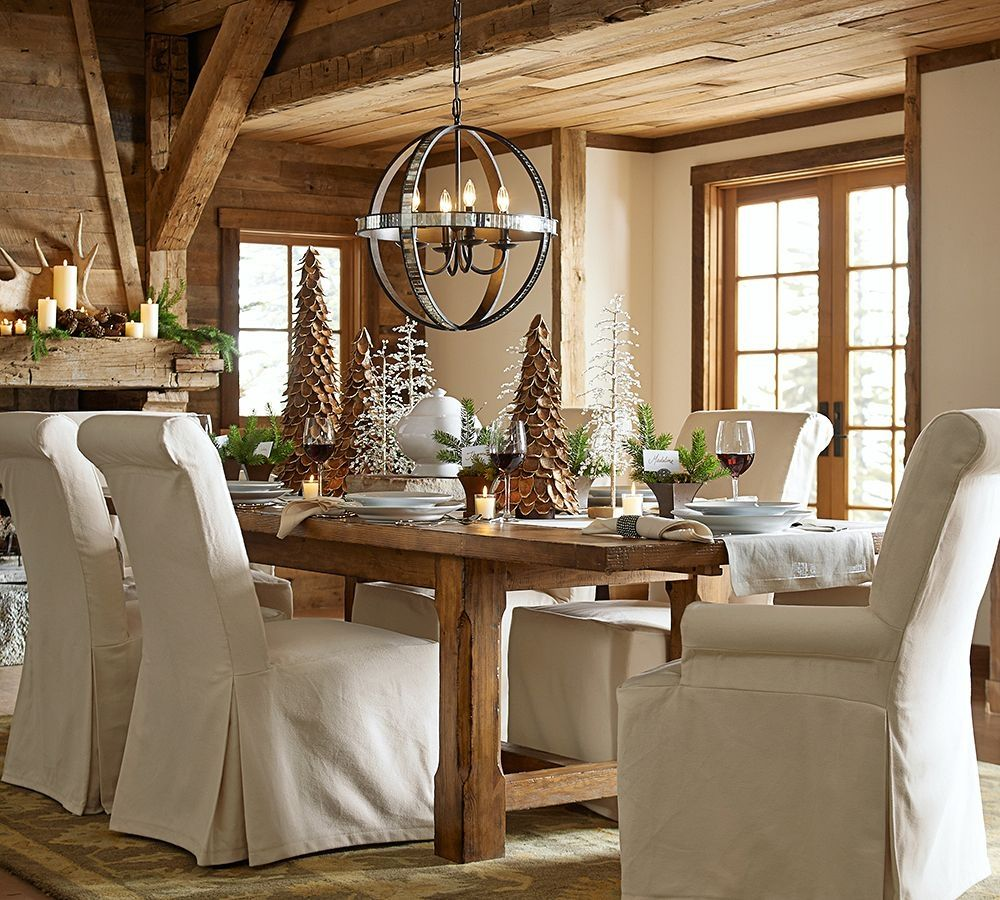 stone fireplace pottery barn dining room table tables design ideas