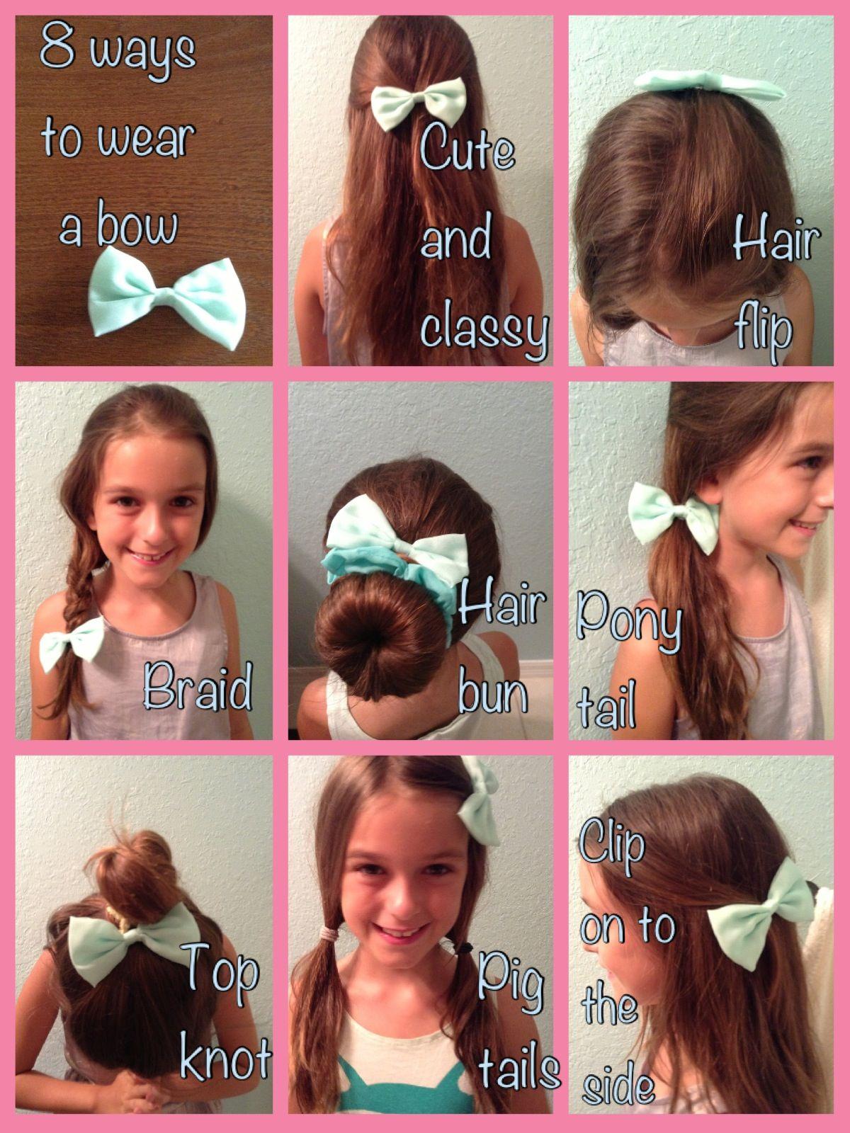 8 Ways To Wear A Bow Baby Girl Hair Hair Flip Hair Bows