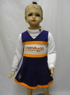 Vikings Infant Cheerleader Outfit with Turtleneck  817727d30