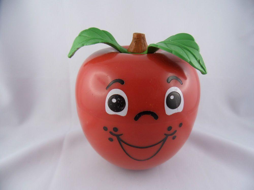 Fisher Price Happy Apple Klangapfel Vintage Spielzeug 1972 Made in USA