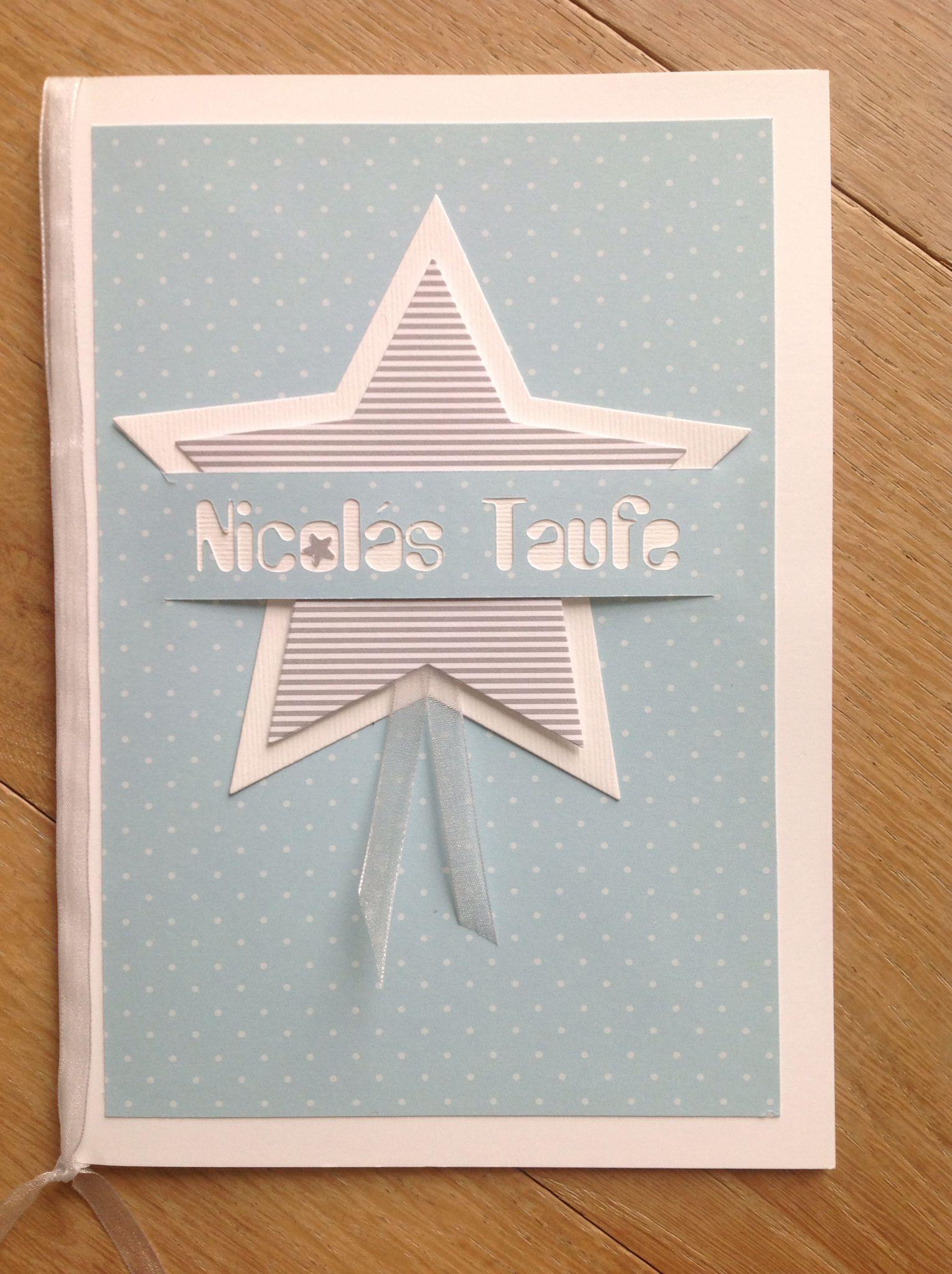 Taufkarte kirchenheft h lle f r kirchenblatt silhouette cameo meine gebastelte werke - Geburtskarten selber machen ...