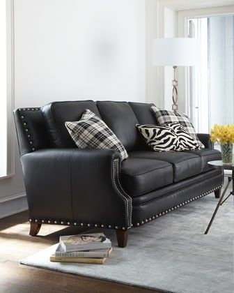 Brockton Leather Sofa Handcrafted Hardwood Frame Features A Suspended Coil Spring System
