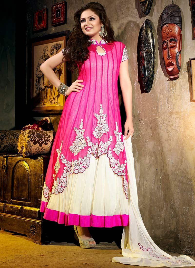 Ennoble Madhubala Layered Ankle Length Anarkali Indian Women Fashion India Fashion Fashion