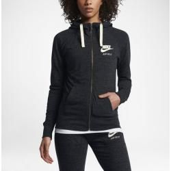 Photo of Felpa con cappuccio full zip Nike Sportswear Gym Vintage da donna – Nero Nike