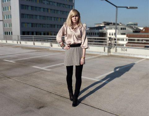 Jana Wind - Zara Blouse, Zara Skirt - That was fucking cold, man