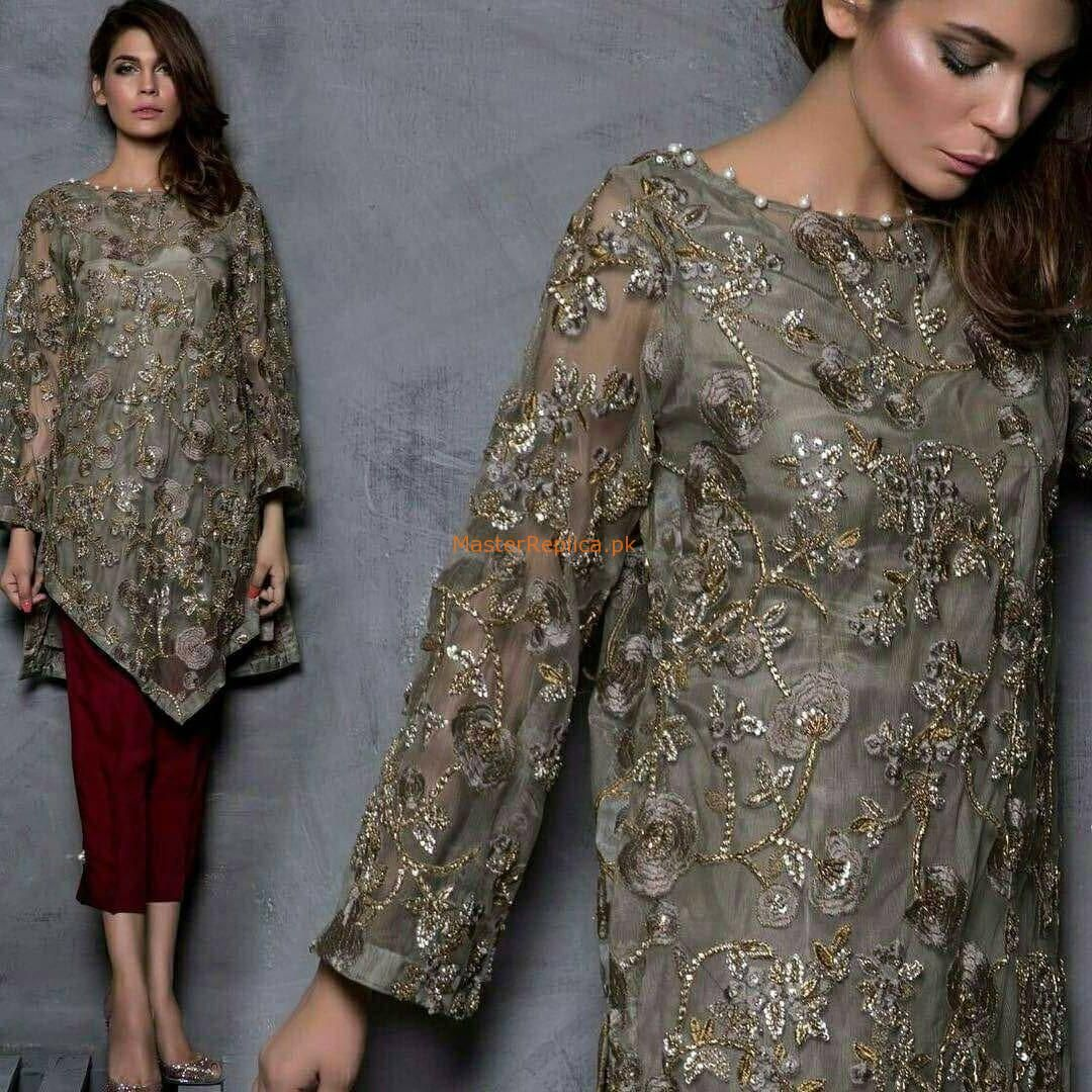 MARIA B Luxury Embroidered Net Eid Collection Replica In