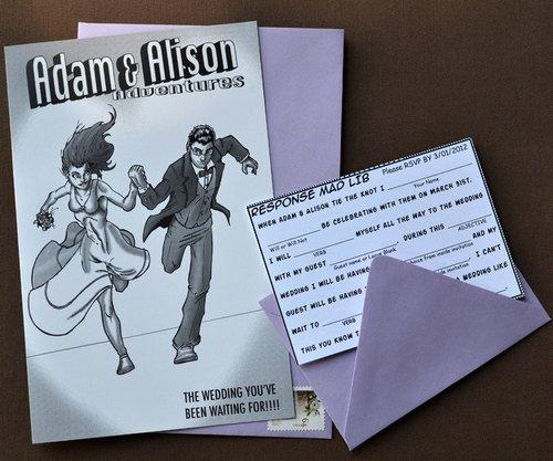 365weddingcards Make Wedding Invitation Card Designed Like Comic Book