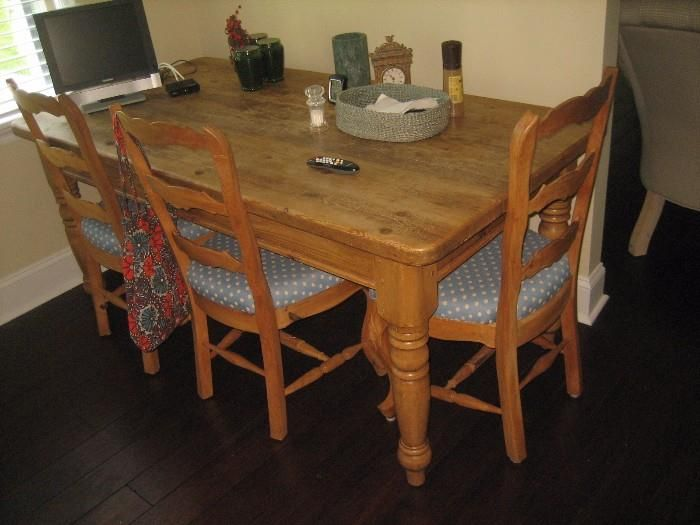 "Estate Sale Dining Room Furniture Awesome Burr Ridge Wow Found On Estatesales Farm Table Pine 72"" X 30 Decorating Inspiration"