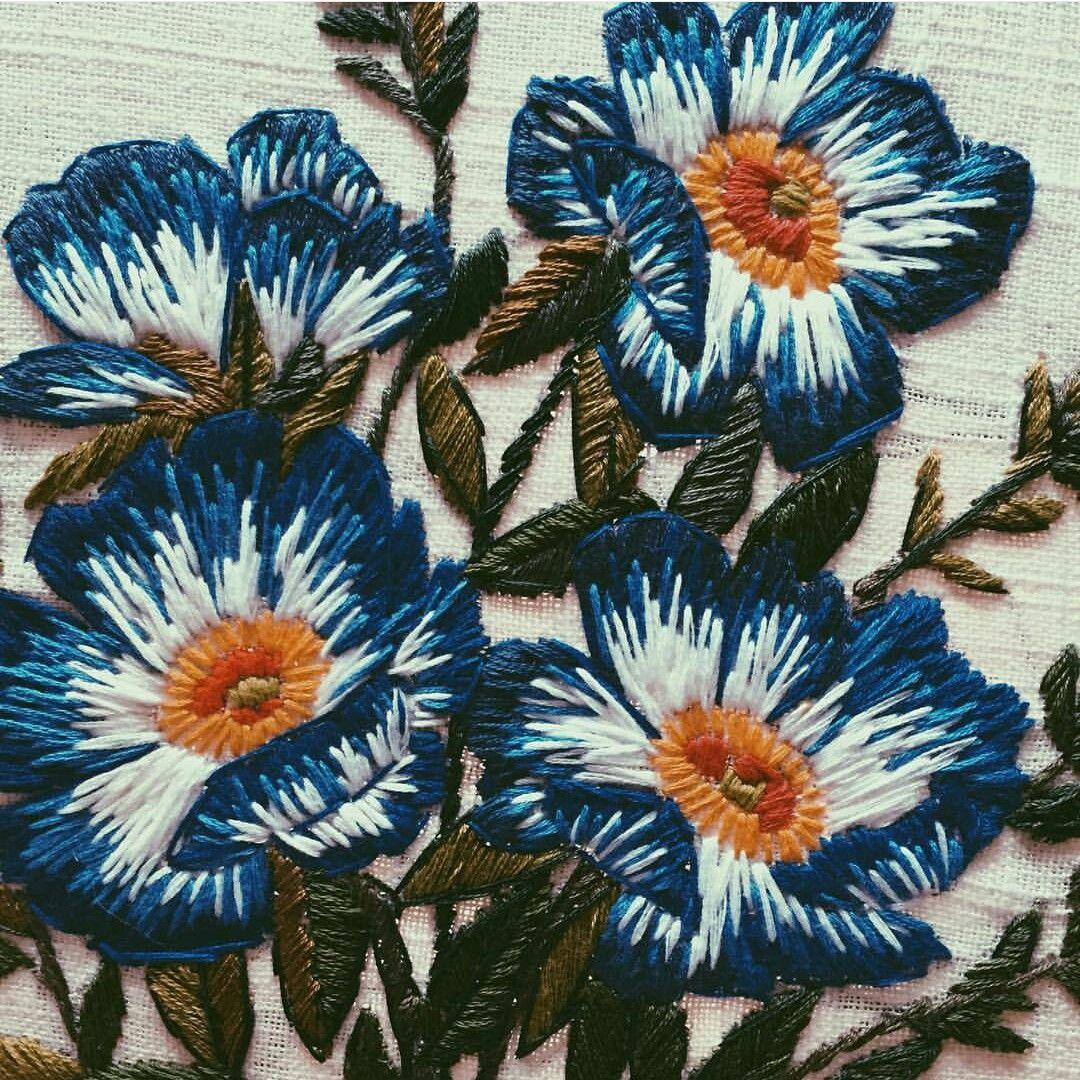 Картинки вышиваем нитками