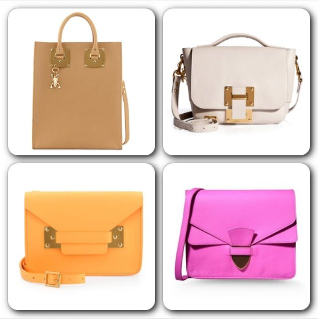 The Little Spring/Summer Bag:  I recently fell in love with Sophie Hulme handbags. I especially appreciate the mix of structured and soft flap designs of her handbags and her ability to depict the perfect selection of colors. I also love the flexibility and the ability to wear these handbags day to night. Sophie Hulme is a British fashion designer, best known for her 2012 A/W handbag collection, which was inspired by toy dinosaurs. Her statement piece is the Armour Tote bag.  @sophie_hulme