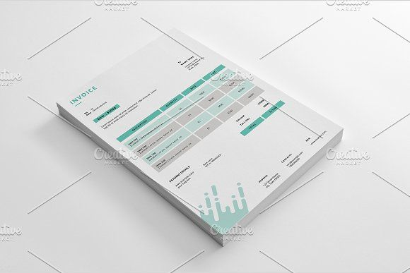 Invoice V09 by Template Shop on @creativemarket Stationeries