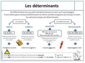 Leçon les déterminants | Les déterminants, Exercices fle et Ce1
