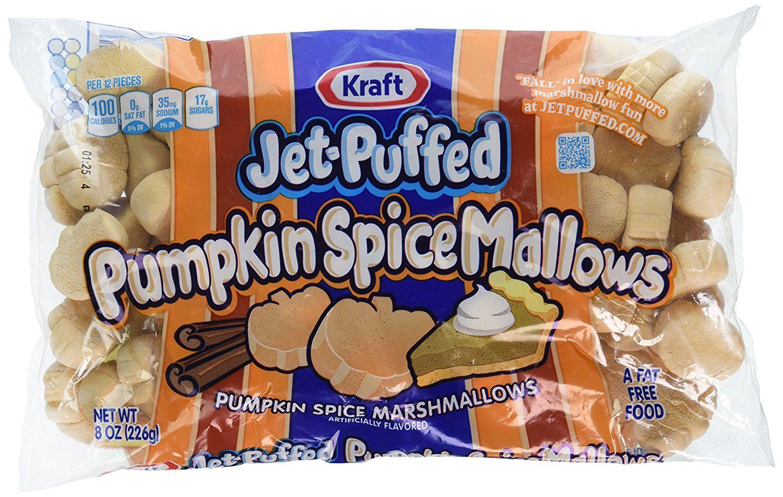 Kraft jetpuffed pumpkin spice marshmallows 8oz bag