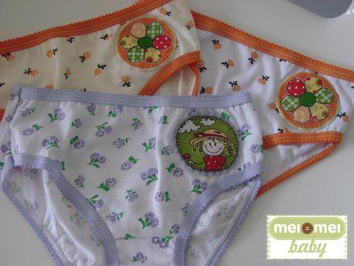 Calcinhas para as pequeninas. Kit com 3 peças! #meimeiatelie #meimeibaby