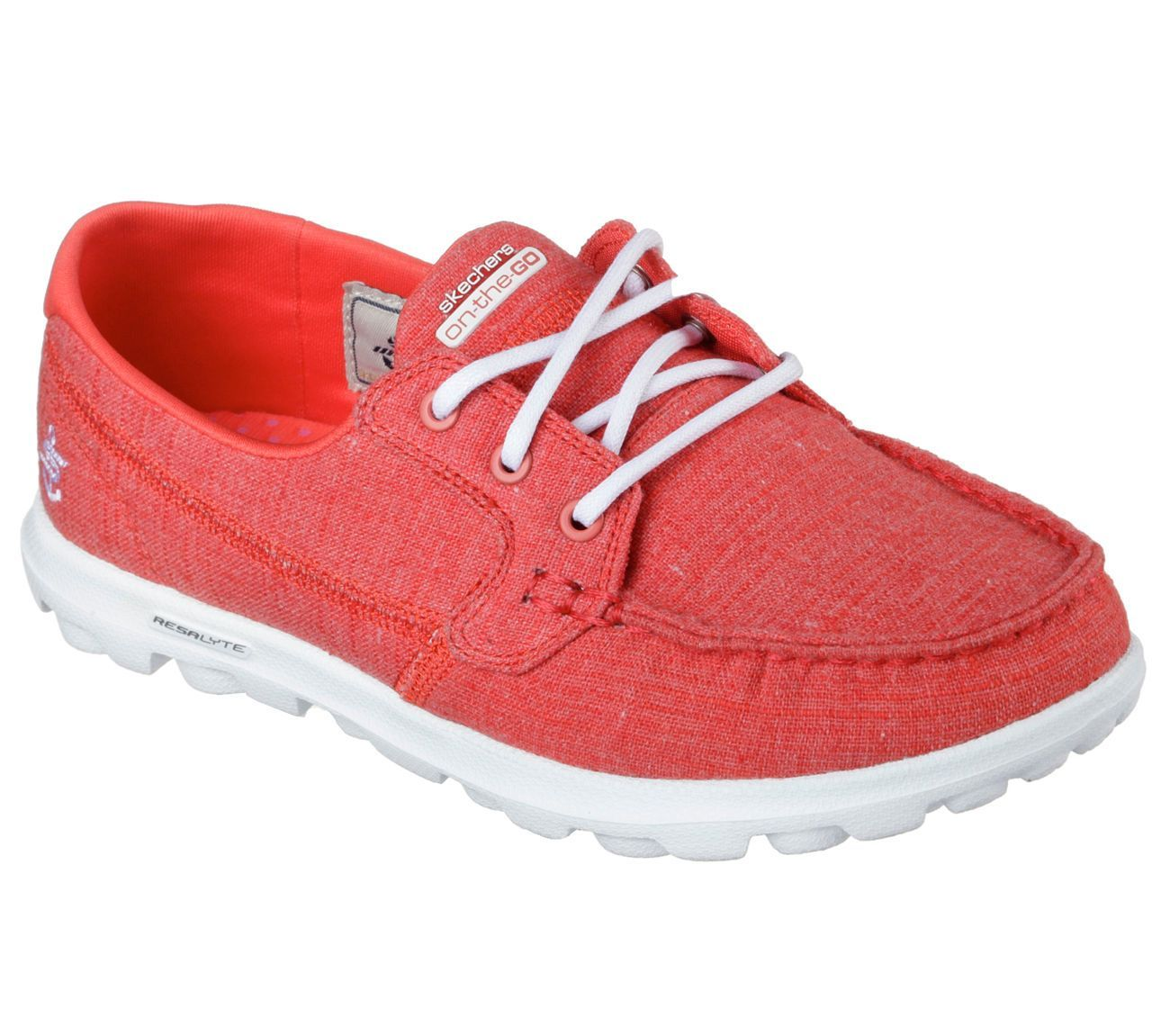 Details about 13841 Red Skechers Shoes On The Go Walk Women