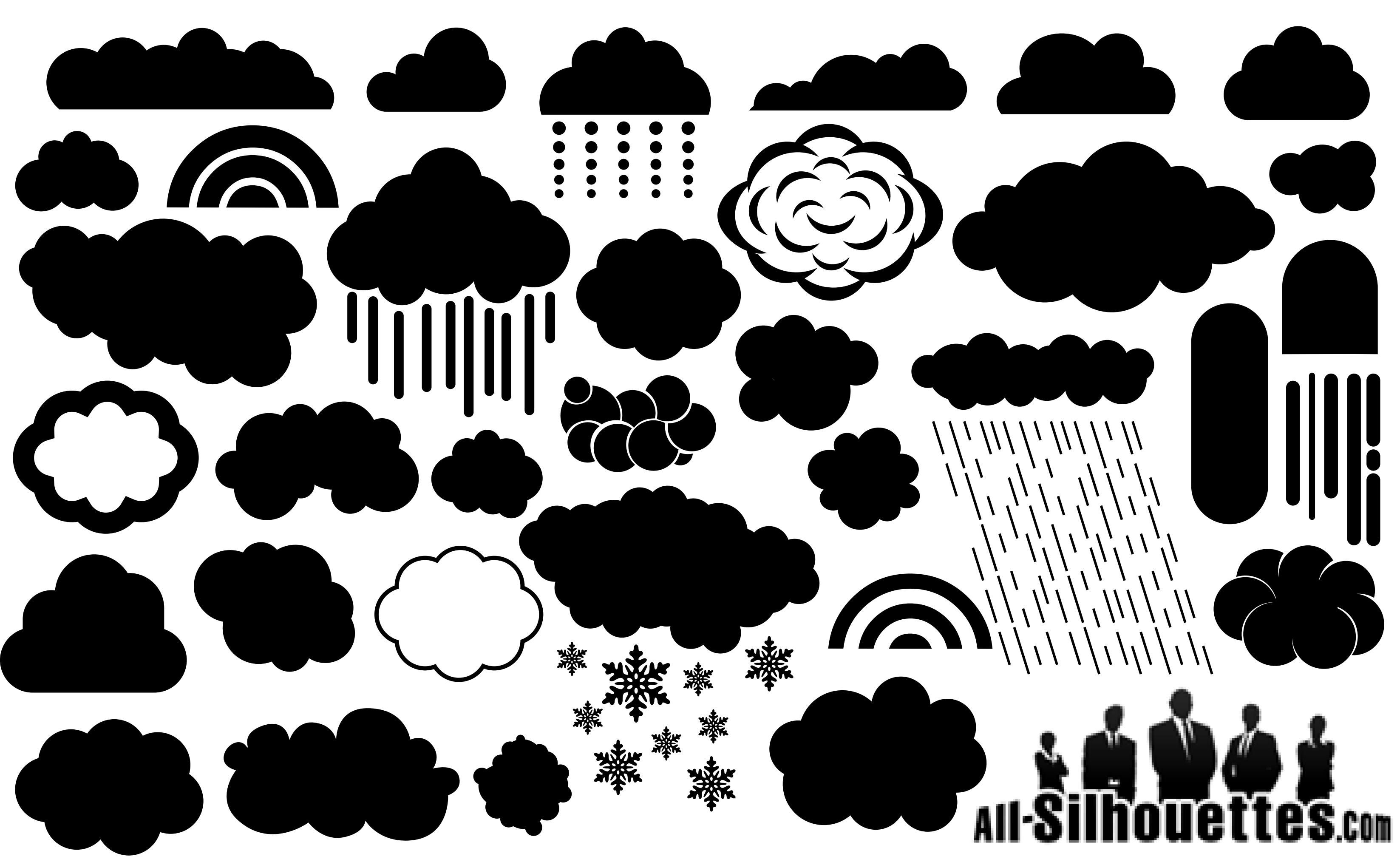 Cloud Silhouette Vector EPS Free Download, Logo, Icons